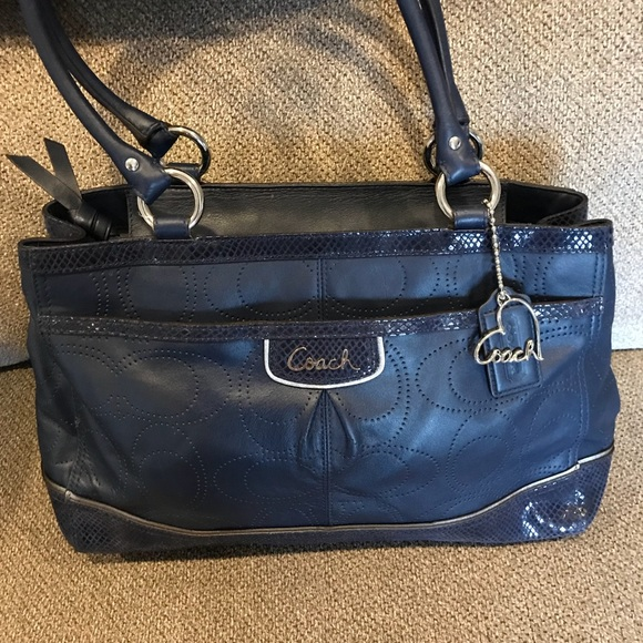 e62aa5e38d Coach Bags | Navy Blue Leather Satchel | Poshmark
